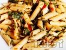 Рецепта Пене с магданоз и домати